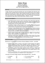 Simple Cv Examples Uk Excellent Example Cv Uk And International Produced By