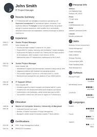 Template Professional Resume Free Template Professional Resume ...