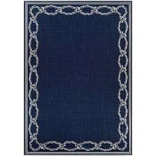 couristan recife rope knot ivory indigo 4 ft x 5 ft indoor outdoor area rug
