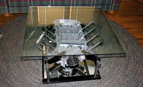 engine block coffee table top gear for living room decor ideas