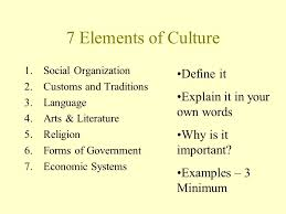 7 Elements Of Culture 7 Elements Of Culture Magdalene Project Org