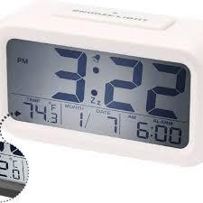digital alarm clock tradeaiza lcd morning clock with calendar thermometer large display smart nightlight soft light