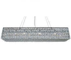 the baker rectangular clear crystal chandelier