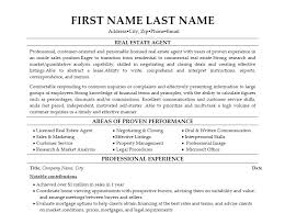 Real Estate Agent Resume Sample With Objective And Real Estate