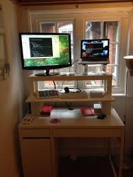 full size desk simple stand. Full Size Of Desk, Prevailing Rectangle White Metal Ikea Stand Up Desk Hack Wooden Simple U