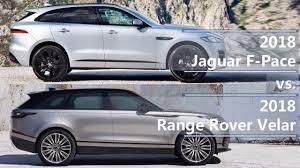 2018 jaguar f pace vs 2018 range rover velar technical parison