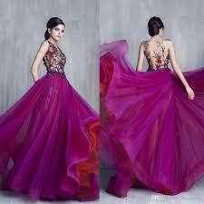Großhandel Tony Chaaya 2017 Lila Prom Kleider Luxus ...