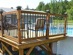 deck footings for above ground pool decks