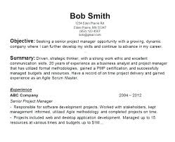 Sample Resume Objectives For Management Pertaining To Management