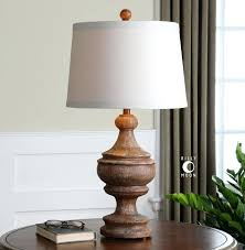 wooden lamp bases uttermost via solid wood table lamp solid wood base finished in a heavily