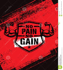 No Pain No Gain Gym Workout Motivation Quote Vector Concept Sport