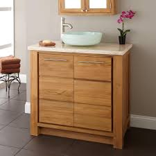 Teak Vanity Bathroom Vessel Sink Vanity Base Globorank