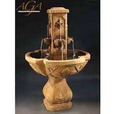 outdoor fleur de lis fountain