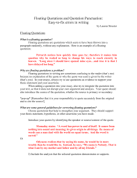 Punctuation Quotes Floating Quotations And Quotation Punctuation