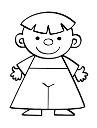 Little People Smiling Toddler Coloring Pages Batch Coloring