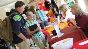 student job fairs being held at comprehensive high schools students take part in a job fair last year