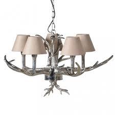 chrome antler chandelier
