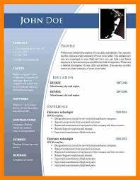 Resume Example Ms Download Resume Template Microsoft Word Resume