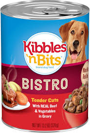 Kibbles N Bits Bistro Tender Cuts With Real Beef Vegetables In Gravy Canned Dog Food 13 2 Oz Case Of 12