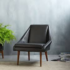 parker leather slipper chair west elm uk
