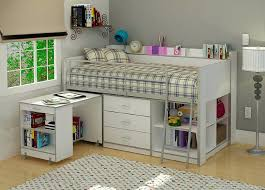 storage loft bed kids with books beds full stairs
