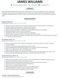Resume For Administrative Assistant Gorgeous Business Administrative Assistant Resume Business Administrative