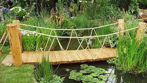 small garden bridge design american gardener landscape bridges ideas