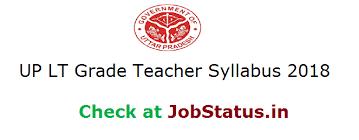 Up Lt Grade Teacher Syllabus 2018 Download Exam Pattern