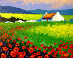 ireland painting poppy field ireland by john nolan