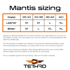 Hunter Safety System Size Chart Mantis