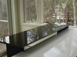 dark colored glass countertop