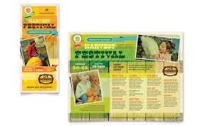 Harvest Festival Brochure Template Design