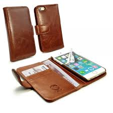 apple iphone 6s wallet case vintage leather brown 1