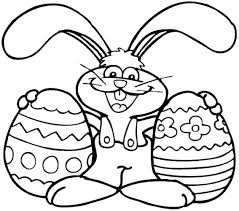 Easter Rabbit Coloring Pages Free Bunny Coloring Pages Printable