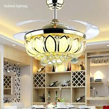 ceiling fan with crystal chandelier light kit inch ceiling fan crystal chandelier lotus light for with