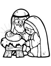 Nativity Coloring Pages For Preschool Nativity Scene Coloring Page