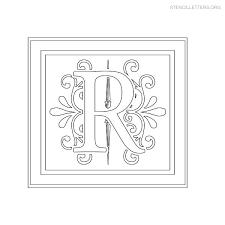 Custom Letter Art Template Stunning Stencil Letters R Printable Free R Stencils Stencil Letters Org