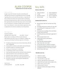 Executive Assistant Resume Samples Free Best Of Executive Administrative Assistant Resume Letsdeliverco