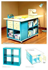 craft room table with furniture under budget wall storage cubes kids diy cube shelves bookcase outstanding