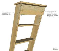 free plans to build a diy decorative vintage wood ladder this vintage inspired ladder makes