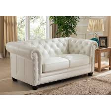 amax nashville white genuine leather chesterfield loveseat with leather sofa bed leather sofa sectional