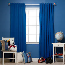 Navy Blue Bedroom Curtains Blue Color Block Curtains Free Image