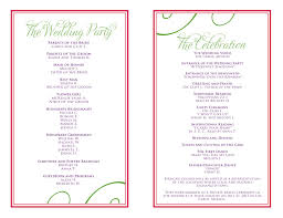 wedding reception program templates free download wedding program free template image collections template design ideas