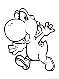 Coloring pages for yoshi (video games) ➜ tons of free drawings to color. Yoshi Coloring Pages Cartoons Yoshi 6 Printable 2020 7325 Coloring4free Coloring4free Com