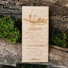 Vintage Wedding Invitation Vintage Wedding Invitations Love Bird Design On Wood