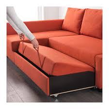 FRIHETEN Sofa bed with chaise Skiftebo dark orange Skiftebo dark orange