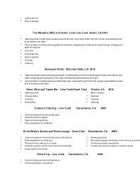 Line Cook Resume Objectives Canadianlevitra Com