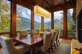 Featured Image of Cozy Modern Craftsman Style Dining Room With Window Walls