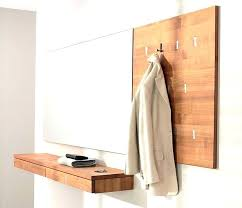 Wall Mounted Coat Rack Mirror Delectable Wall Coat Hanger With Mirror Modern Wall Mounted Coat Rack Coat