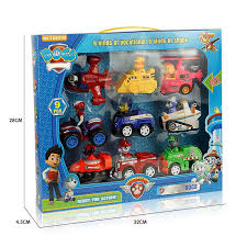 9pcs set paw patrol pull backs cars playsets dog patrols play vehicles racing models